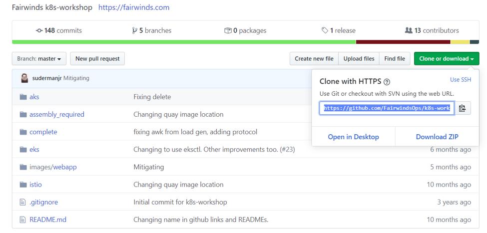 Fairwinds GitHub k8s-workshop
