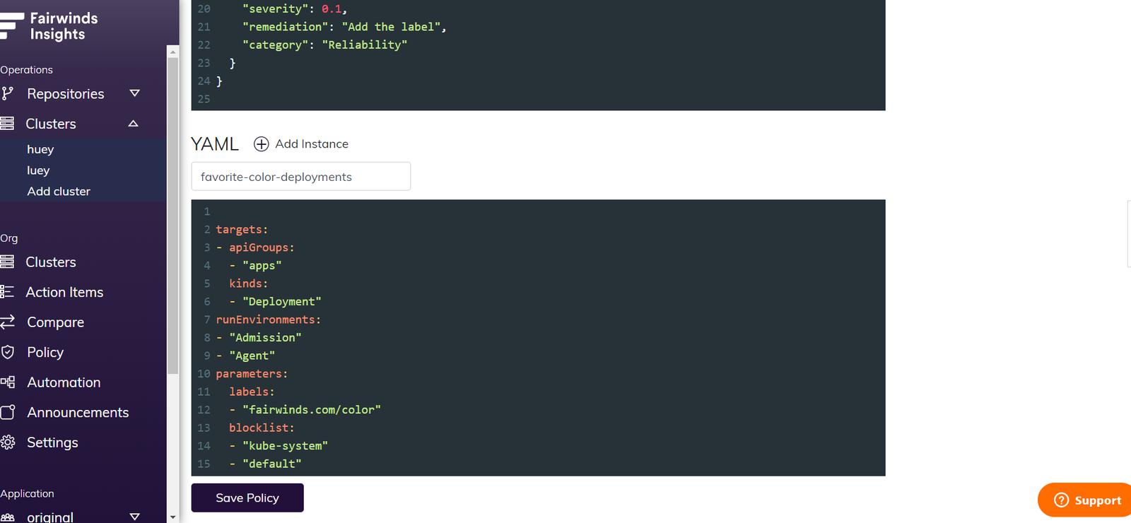 Paste In The YAML